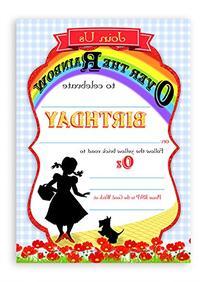 Wizard of Oz Invitations - 10 Invitations + 10 Envelopes