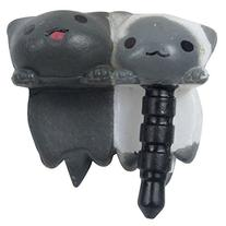 niceeshop 2 Pcs Gray and Wkite Cheese Twins Cat Universal 3.
