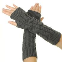 Eforcase Women Lady Girl Knitted Crochet Long Soft gloves