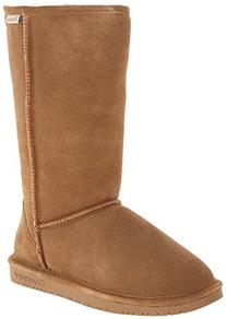 Bearpaw Womens Emma Tall 12-Inch Suede Sheepskin Boot,