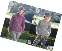 King Cole Womens Magnum Chunky Knitting Pattern Ladies Cable