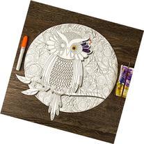 My Wonderful Walls - Wise Owl Mandala ColorMe Decal