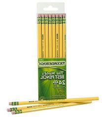 Ticonderoga Wood-Cased Graphite Pencils, #2 HB Soft, Yellow