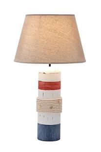 "Deco 79 28750 Wood Buoy Table lamp 24"" H"