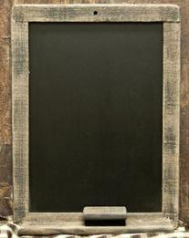 CWI Gifts Weathered Natural Wood Blackboard with Matching