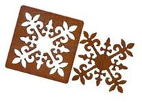 Wood coasters laser cut 2 in 1 Pukinikini flower