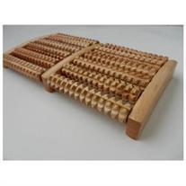 Wood Foot Massager 5 Row Wooden Roller Stress Relief Body