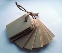 Valley Mall Wood Gift Tags / Blank Wooden Tags for Wine,