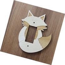 Wood Laser Cut Fox Light Switch Plate