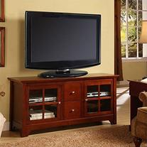 52 in. Solid Wood TV Console with Drawers by Walker Edison