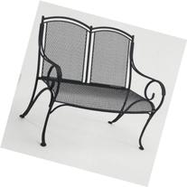 Woodard Modesto Wrought Iron Garden Bench; Textured Black