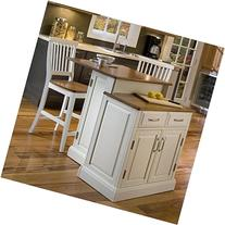 Home Styles Woodbridge Two Tier Kitchen Island and Stools