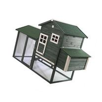 Pawhut Wooden Backyard Poultry Hen House Chicken Coop -