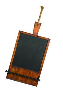 Wooden Baker's Paddle Bread Board Shaped Chalkboard w/ Towel