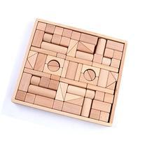 Wooden Blocks - iPlay, iLearn wood block set Natural Wooden