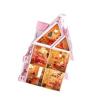 "17"" Wooden Dream Dollhouse 6 Rooms with Furnitures Lights"