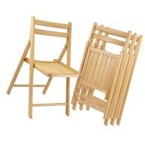 Wooden Folding Chairs - Set of 4