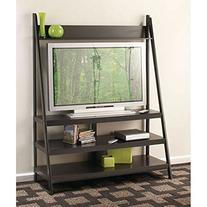 "Wooden Ladder Style 52"" Tv Stand, Black"