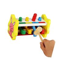 Youtop Wooden Pounding Bench Pound A Peg Toy for Toddlers