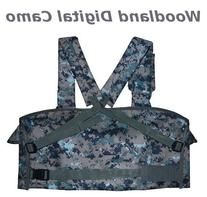 Woodland Digital Camo 7-Pouch Tactical Chest Rig