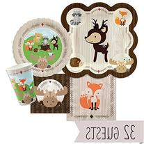 Woodland Creatures - Baby Shower or Birthday Party Tableware