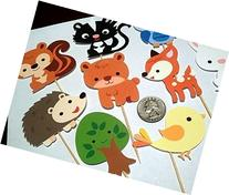 Woodland Creatures Theme Cupcake Toppers - 12 pc. set