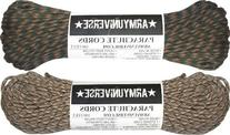 Woodland & Desert Camo 550LB US Paracord Value Pack - 200