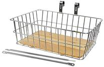"""Sunlite Woody Front Basket, 18 x 13 x 6"""", Silver"""