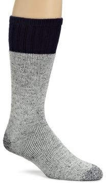 Dickies Men's 2 Pack Wool Blend Boot Crew Socks, Grey/Navy,