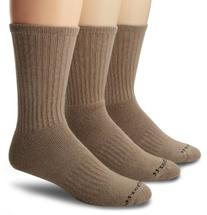 Carhartt Mens 3 Pack Work Wear Cushioned Crew Socks,  Khaki