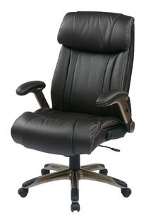 Office Star Executive Eco Leather Chair with Adjustable