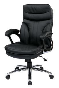 Office Star WorkSmart Faux Leather High Back Executive Chair
