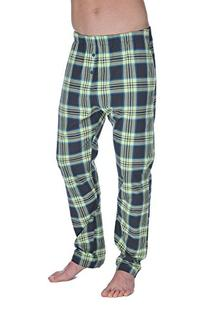 Diesel Men's Workyboy Plaid Sleep Trouser, Olive/Lime, Large