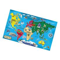 Melissa & Doug World Map Floor Puzzle, 51 Pieces