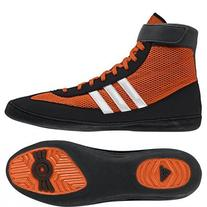 Adidas Combat Speed 4 Wrestling Shoes - 9.5 - Orange/White/