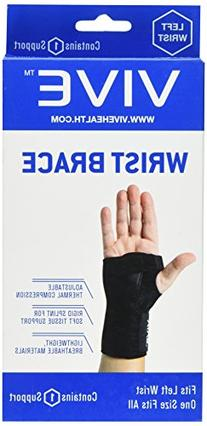 Vive Wrist Brace - Carpal Tunnel Hand Compression Support Wrap for Men, Women, Tendinitis, Bowling, Sports Injuries Pain Relief - Removable Splint -