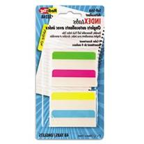 ** Write-On Self-Stick Index Tabs/Flags, 2 x 11/16, 4 Colors
