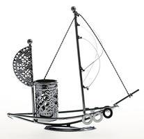 JustNile Wrought Iron Metal Pen Holder - Sailboat