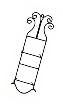Wrought Iron Scroll Wall Plate Holder, Double-24.5 Inches