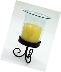 Wrought Iron Table Hurricane Lamp Set-16 Inches High x 7