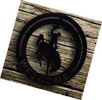 Wyoming Bucking Horse Welcome Sign