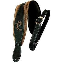 LM Products X-Clef Worn Leather Bass Strap - Black