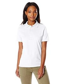 Hanes Women's X-Temp Performance Polo, White, Medium