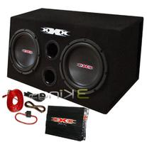XXX XBX1000B Bass Pkg. 10 Inches W/Amp + Amp Kit. Black