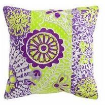 Xhilaration Purple & Yellow Embroidered Boho Throw Pillow