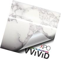 VViViD XPO White Grey Marble Gloss Vinyl Film Contact Paper