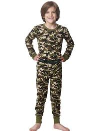 Hanes X-Temp 25450 Boys X-Temp Camo Thermal Set Size Medium
