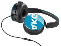 AKG Y50 Teal On-Ear Headphone with In-Line One-Button