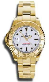 Rolex Yacht Master White Dial Automatic 18K Yellow Gold