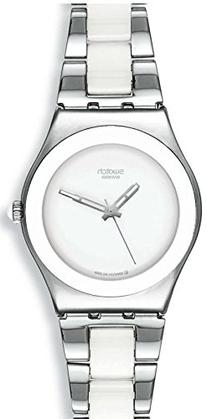 Swatch YLS141GC Tresor Blanc White Dial Silver Two Tone